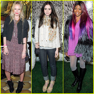Kate Bosworth & Lily Collins: Mulberry Firepit Party Pair!