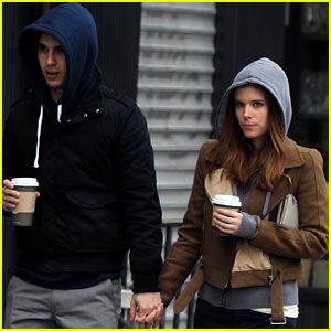 Kate Mara & Max Minghella Stroll in the City