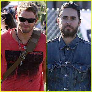 Kellan Lutz & Jared Leto Check Out Coachella!