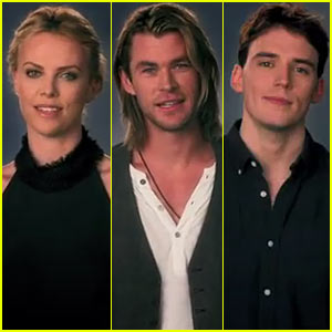 Charlize Theron & Chris Hemsworth: Happy Birthday, Kristen Stewart!