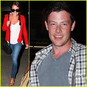 Lea Michele & Cory Monteith Shoot a 'Finchel' Scene