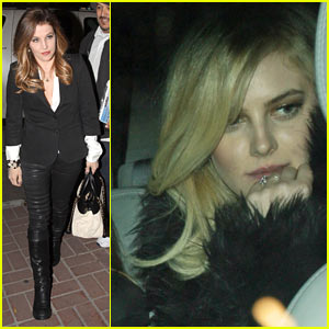 Lisa Marie Presley: Alex Pettyfer Birthday Dinner with Riley Keough!