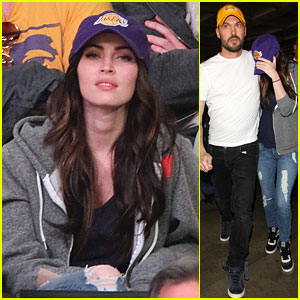Megan Fox & Brian Austin Green: Lakers Game Date!