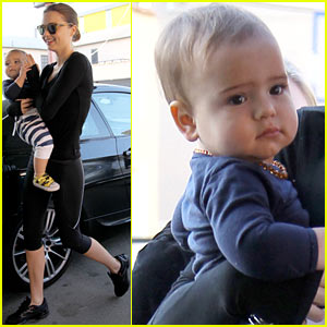 Miranda Kerr & Flynn: Morning Gym Buddies!