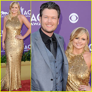 Miranda Lambert & Blake Shelton - ACM Awards 2012 Red Carpet