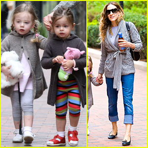 Sarah Jessica Parker &#038; Twins: School Run!