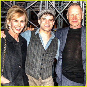 Sting & Trudie Styler Visit Broadway's 'Newsies'!