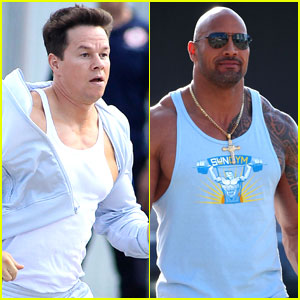 Mark Wahlberg: 'Pain And Gain' Set with Dwayne J