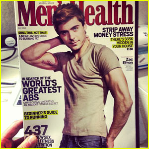 Zac Efron: Feather Tattoos on Men's Health Cover!