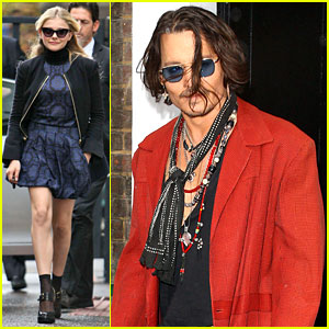 Chloe Moretz &#038; Johnny Depp: 'Dark Shadows' Promo Tour!