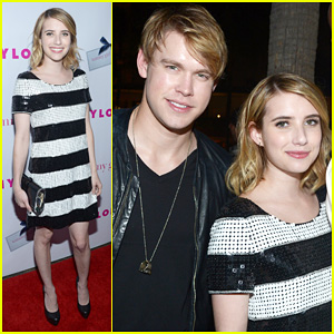 Emma Roberts & Chord Overstreet: 'Nylon' Party Pair!