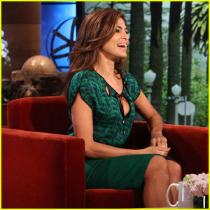 Eva Mendes Gets Shy Talking about Ryan Gosling