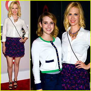 January Jones &#038; Emma Roberts: Shops at Target Launch!