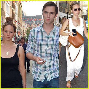 Jennifer Lawrence &#038; Nicholas Hoult: London Lovebirds