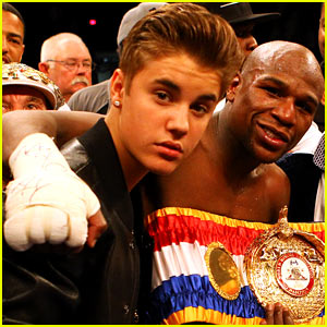 Justin Bieber: Floyd Mayweather, Jr. Boxing Victory Celebration!