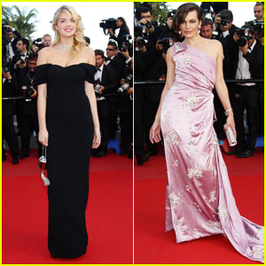 Kate Upton &#038; Milla Jovovich: 'On the Road' Cannes Premiere!