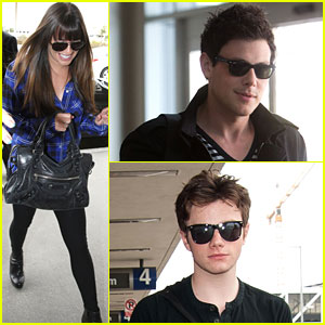 Lea Michele & Cory Monteith: New York Bound for Upfronts!