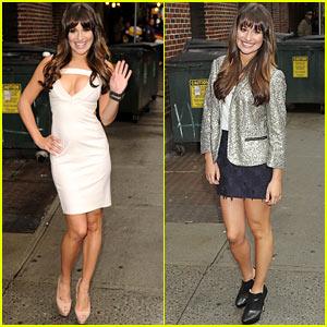Lea Michele: 'Letterman' Appearance Tonight!