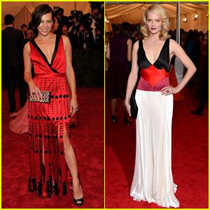 Milla Jovovich & Amber Valletta - Met Ball 2012