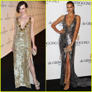 Milla Jovovich & Irina Shayk: de Grisogono Glam Party!