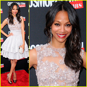 Zoe Saldana: 'Cosmopolitan for Latinas' Cover Party!