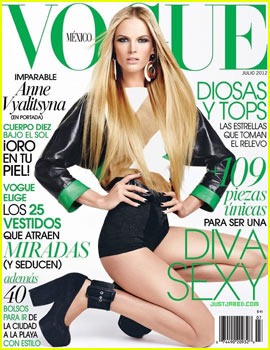 Anne V Covers 'Vogue Mexico' July 2012