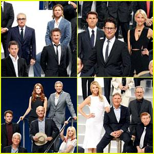 Brad Pitt Amp Charlize Theron Paramount 100th Anniversary