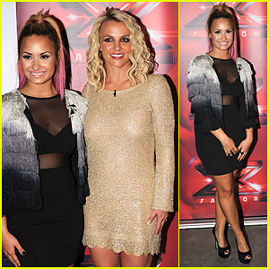Britney Spears & Demi Lovato: 'X Factor' San Francisco Auditions!
