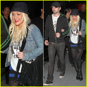 Christina Aguilera & Matthew Rutler: Rasputin Night Out!
