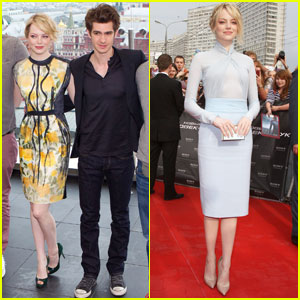 Emma Stone & Andrew Garfield: 'Spider-Man' in Russia!