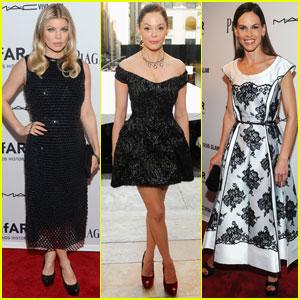 Fergie & Rose McGowan: amfAR Inspiration Gala!