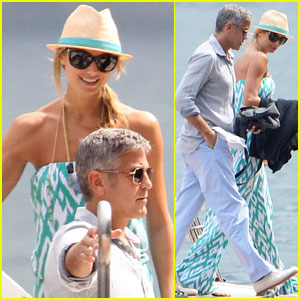 George Clooney & Stacy Keibler: Lake Como Cruise!