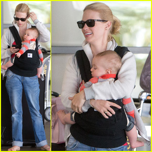 January Jones & Xander: Traveling Twosome