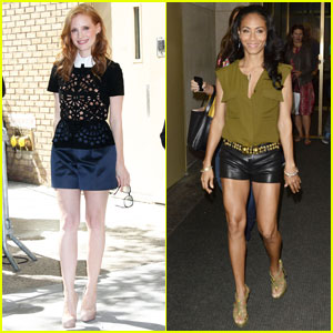 Jessica Chastain & Jada Pinkett Smith: 'Madagascar' in Manhattan!