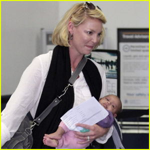 Katherine Heigl: Airport with Adalaide!