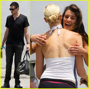 Lea Michele: 'I Love Working With Cory'