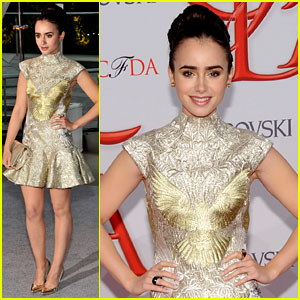 Lily Collins - CFDA Fashion Awards 2012