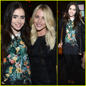 Lily Collins: 'Glamour' Party with Julianne Hough!
