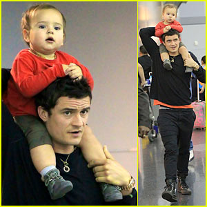 Orlando Bloom: Piggyback Ride for Flynn!