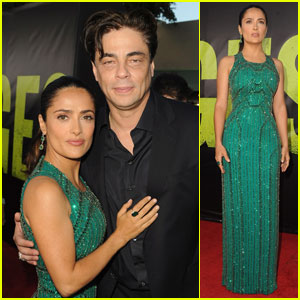 Salma Hayek: 'Savages' Premiere with Benicio Del Toro!