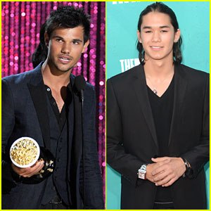 Taylor Lautner & Booboo Stewart: MTV Movie Awards 2012