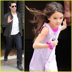 Tom Cruise's 'Rock of Ages' Makeup Confuses Suri