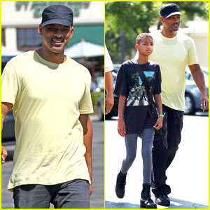 Willow Smith: Menchies with Dad Will