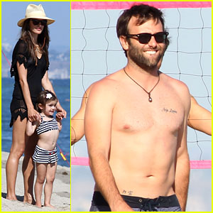 Alessandra Ambrosio: Beach with Shirtless Jamie Mazur!