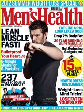 Alex Pettyfer Covers 'Men's Health UK' August 2012