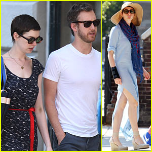 Anne Hathaway: July Fourth Festivities with Adam Shulman!