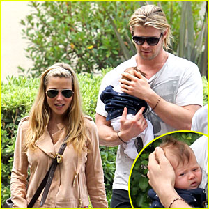 Chris Hemsworth & Elsa Pataky: Kafe K with Baby India!