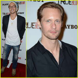 Alexander Skarsgard & Chad Michael Murray: Playboy & 'True Blood' Party!