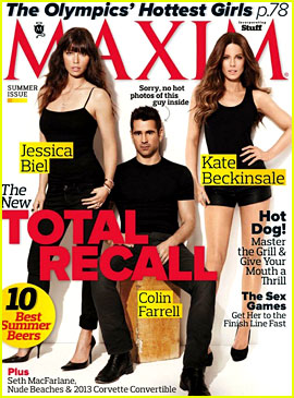 Colin Farrell, Jessica Biel, & Kate Beckinsale Cover 'Maxim'