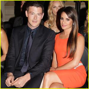 Lea Michele & Cory Monteith: Versace Show!